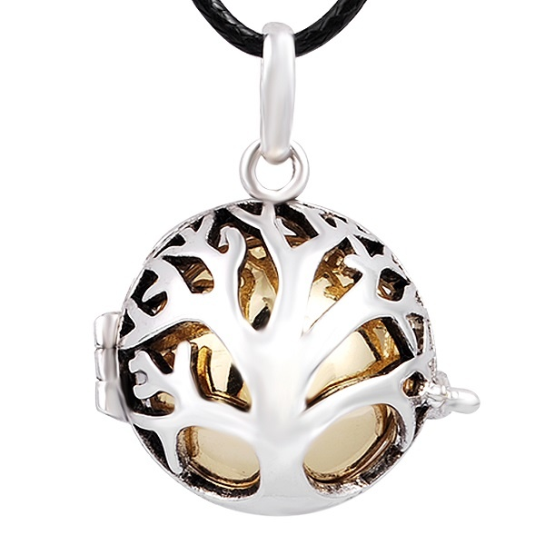 Meaningful tree design silver plated cage pendants with colored meaningful tree design silver plated cage pendants with colored chime balls mexican bola pendants hbc002 aloadofball Gallery
